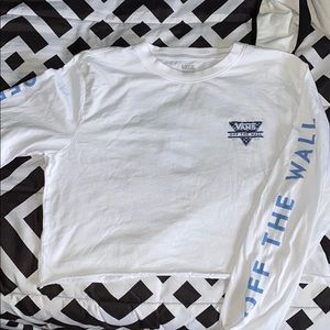 White Vans Off the Wall Crop Long Sleeve